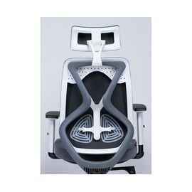 Кресло офисное Norden Имидж gray 2 / белый пластик / серая ткань, изображение 4