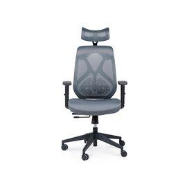 Кресло офисное Norden Имидж / черный пластик / серая сетка / серая ткань, изображение 2