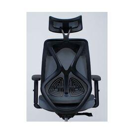 Кресло офисное Norden Имидж / черный пластик / серая сетка / серая ткань, изображение 4