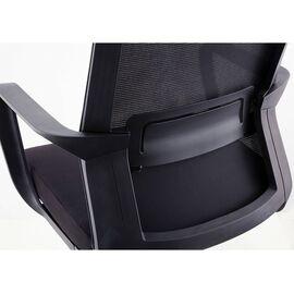 Кресло офисное Norden Интер LB / черный пластик / черная сетка / черная ткань, Цвет товара: Черный, изображение 5