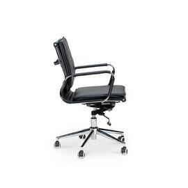 Кресло офисное Norden Харман LB / (black) хром / черная экокожа, изображение 3