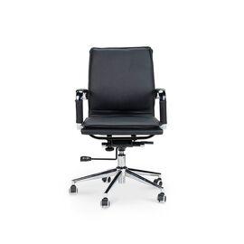 Кресло офисное Norden Харман LB / (black) хром / черная экокожа, изображение 2