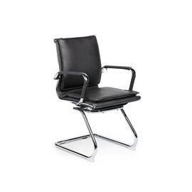 Кресло для посетителей Norden Харман CF / (black) хром / черная экокожа