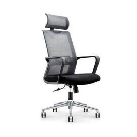 Кресло офисное Norden Интер / база хром / черный пластик / черная сетка / черная ткань