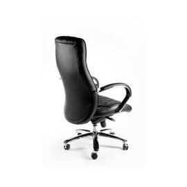 Компьютерное кресло для руководителя Norden Бонд / (black) сталь + хром / черная экокожа, изображение 4