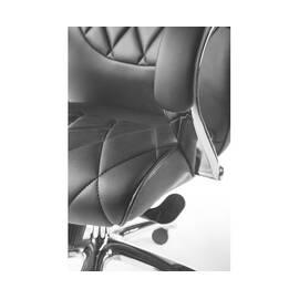 Компьютерное кресло для руководителя Norden Бонд / (black) сталь + хром / черная экокожа, изображение 5