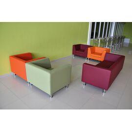Модульный диван двухместный Омега Люкс Alfa 1500х760х680 Кожа, Цвет товара: Madras 3010, изображение 4