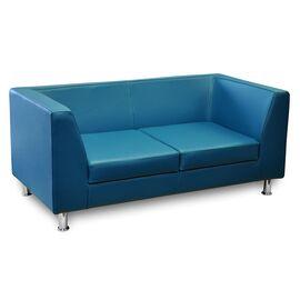 Модульный диван двухместный Омега Люкс Alfa 1500х760х680 Кожа, Цвет товара: Madras 3010