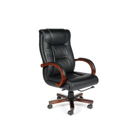 Компьютерное кресло для руководителей Norden Консул кожа / дерево / черная кожа, изображение 3