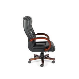 Компьютерное кресло для руководителей Norden Консул кожа / дерево / черная кожа, изображение 4