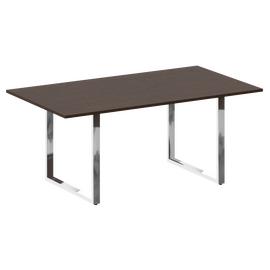 Стол для переговоров О-образный металокаркас Metal system direct Riva БО.ПРГ-180 Венге Цаво 1800*1000*750, Цвет товара: Венге Цаво