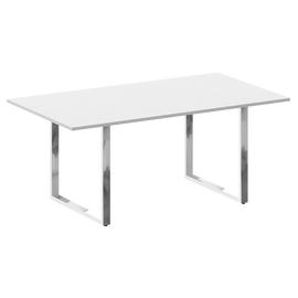 Стол для переговоров О-образный металокаркас Metal system direct Riva БО.ПРГ-180 Белый 1800*1000*750, Цвет товара: Белый