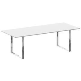 Стол для переговоров О-образный металокаркас Metal system direct Riva БО.ПРГ-240 Белый 2400*1000*750, Цвет товара: Белый