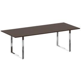 Стол для переговоров О-образный металокаркас Metal system direct Riva БО.ПРГ-240 Венге Цаво 2400*1000*750, Цвет товара: Венге Цаво