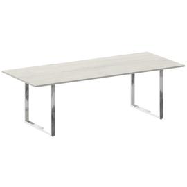 Стол для переговоров О-образный металокаркас Metal system direct Riva БО.ПРГ-240 Дуб Наварра 2400*1000*750, Цвет товара: Дуб наварра