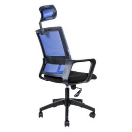 Кресло офисное Norden Бит / черный пластик / синяя сетка / черная ткань, изображение 4