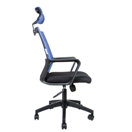 Кресло офисное Norden Бит / черный пластик / синяя сетка / черная ткань, изображение 3
