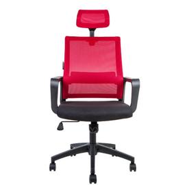 Кресло офисное Norden Бит / черный пластик / красная сетка / черная ткань, изображение 3