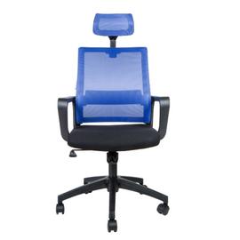 Кресло офисное Norden Бит / черный пластик / синяя сетка / черная ткань, изображение 2