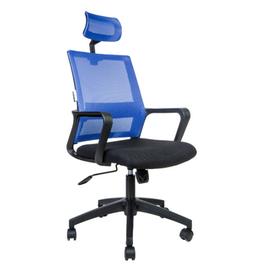Кресло офисное Norden Бит / черный пластик / синяя сетка / черная ткань