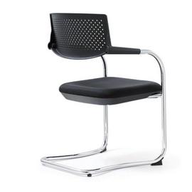 Кресло для посетителей Norden Самба black CF / хром / черный пластик / черная ткань, изображение 4