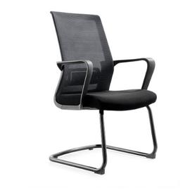 Кресло для посетителей Norden Интер CF / черная краска / черная сетка / черная ткань