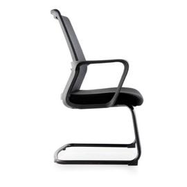 Кресло для посетителей Norden Интер CF / черная краска / черная сетка / черная ткань, изображение 4