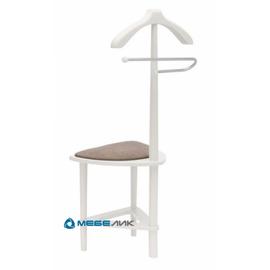 Вешалка костюмная с сиденьем В 26Н Mebelik Белый 420х360х1050, Цвет товара: Белый, изображение 2