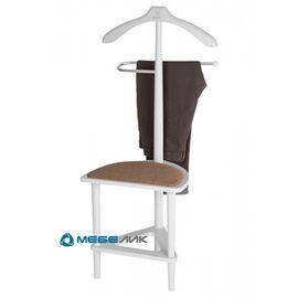 Вешалка костюмная с сиденьем В 26Н Mebelik Белый 420х360х1050, Цвет товара: Белый, изображение 4