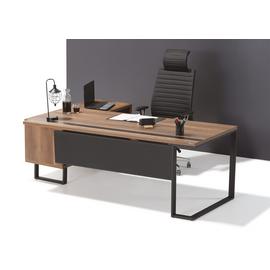 Стол руководителя с одной опорой (монтируемый на тумбу) Зета Officio 202061-02 2000x900x750, изображение 11