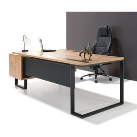 Стол руководителя с одной опорой (монтируемый на тумбу) Зета Officio 202061-02 2000x900x750, изображение 12