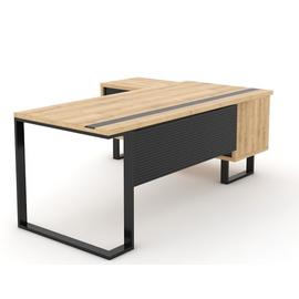 Стол руководителя с одной опорой (монтируемый на тумбу) Зета Officio 202061-02 2000x900x750, изображение 2