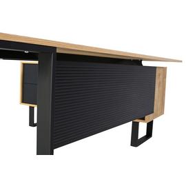 Стол руководителя с одной опорой (монтируемый на тумбу) Зета Officio 202061-02 2000x900x750, изображение 8