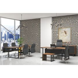 Стол руководителя Зета Officio 202061-05 2000x900x750, изображение 10