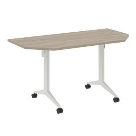 Стол прямой письменный складной мобильный X.M-7.T1 Дуб Аттик/Белый 1440х720х753, Цвет товара: Дуб Аттик