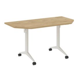 Стол прямой письменный складной мобильный X-Pull Riva X.M-7.T1 Тиквуд Светлый/Белый 1440х720х753, Цвет товара: Тиквуд Светлый