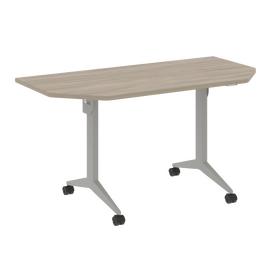 Стол прямой письменный складной мобильный X.M-7.T1 Дуб Аттик/Серый 1440х720х753, Цвет товара: Дуб Аттик