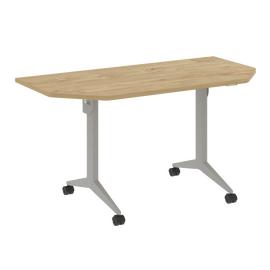 Стол прямой письменный складной мобильный X-Pull Riva X.M-7.T1 Тиквуд Светлый/Серый 1440х720х753, Цвет товара: Тиквуд Светлый