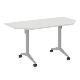 Стол прямой письменный складной мобильный X-Pull Riva X.M-7.T1  Белый бриллиант/Серый 1440х720х753, Цвет товара: Белый бриллиант