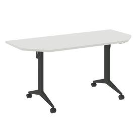 Стол прямой письменный складной мобильный X-Pull Riva X.M-7.T2 Белый бриллиант/Антацит 1580х720х753, Цвет товара: Белый бриллиант