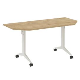 Стол прямой письменный складной мобильный X-Pull Riva X.M-7.T2 Тиквуд Светлый/Белый 1580х720х753, Цвет товара: Тиквуд Светлый