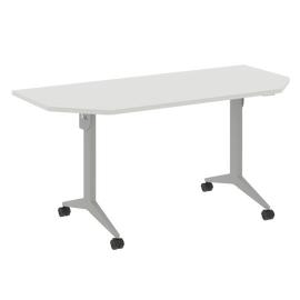 Стол прямой письменный складной мобильный X-Pull Riva X.M-7.T2 Белый бриллиант/Серый 1580х720х753, Цвет товара: Белый бриллиант