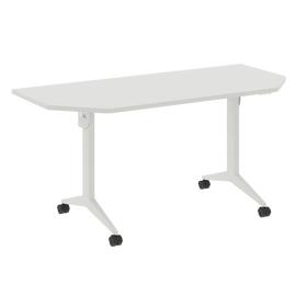 Стол прямой письменный складной мобильный X-Pull Riva X.M-7.T2 Белый бриллиант/Белый 1580х720х753, Цвет товара: Белый бриллиант