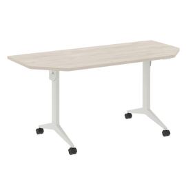 Стол прямой письменный складной мобильный X-Pull Riva X.M-7.T2 Денвер Светлый/Белый 1580х720х753, Цвет товара: Денвер светлый