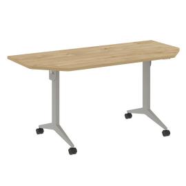 Стол прямой письменный складной мобильный X-Pull Riva X.M-7.T2 Тиквуд Светлый/Серый 1580х720х753, Цвет товара: Тиквуд Светлый