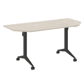 Стол прямой письменный складной мобильный X-Pull Riva X.M-7.T2 Денвер Светлый/Антацит 1580х720х753, Цвет товара: Денвер светлый