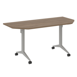 Стол прямой письменный складной мобильный X-Pull Riva X.M-7.T2 Дуб Аризона/Серый 1580х720х753, Цвет товара: Дуб Аризона