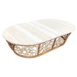 Садовый стол кофейный  Мамасан  ротанг