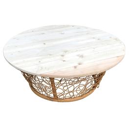 Садовый стол кофейный  Папасан  ротанг
