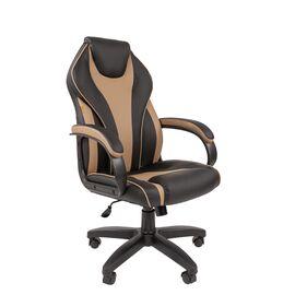 Компьютерное кресло для руководителя Chairman 299 Бежевый/Чёрный, Цвет товара: Бежевый